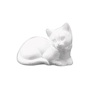 Chat en polystyrene, dormant 14 cm