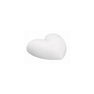 Coeur en polystyrene 20 cm, plat