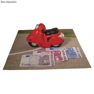 Motocyclette en polystyrene (non peint) 17x10,5 cm