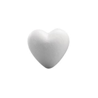 Coeur en polystyrene, plein  12 cm