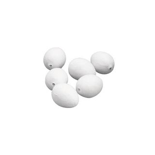 Oeufs en ouate. blancs 29x38 mm. sct.-LS 10 pces