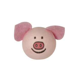 Tete en ouate: Cochon avec oreilles 22 mm sc,6 pièces ø 22 mm. sct.-LS 6 pces