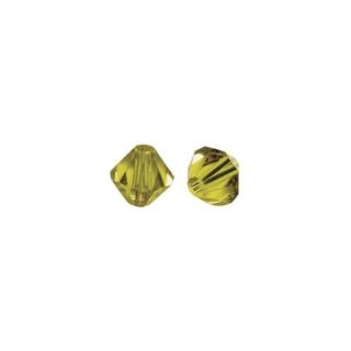 Perles cristal Swarovski toupie 4 mm ø.  jaune d`or