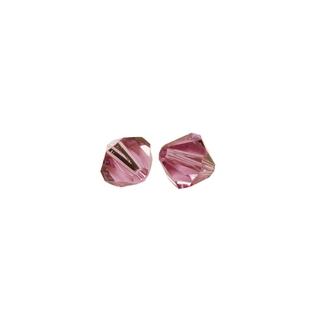 Perles cristal Swarovski toupie 4 mm ø.  rose chiffon