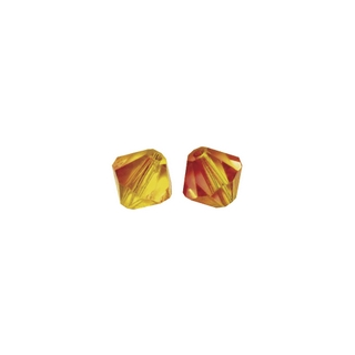 Perles cristal Swarovski toupie 4 mm ø.  rouge feu