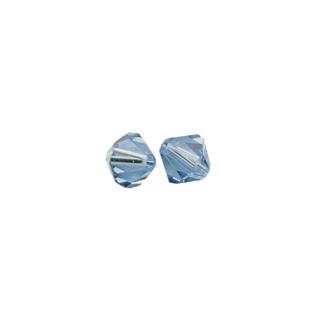 Perles cristal Swarovski toupie 4 mm ø.  bleu azur