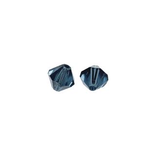 Perles cristal Swarovski toupie 4 mm ø.  indigo