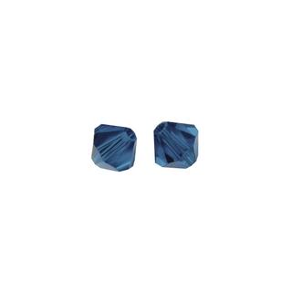 Perles cristal Swarovski toupie 4 mm ø.  bleu nuit