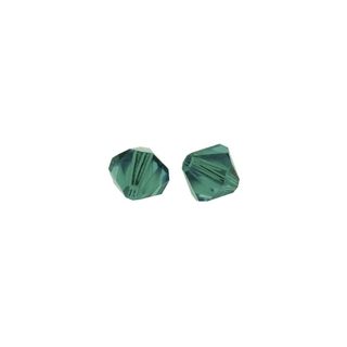 Perles cristal Swarovski toupie 4 mm ø.  bleu lagon