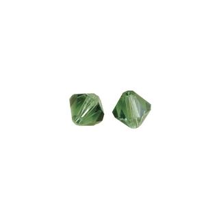 Perles cristal Swarovski toupie 4 mm ø.  emeraude