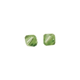 Perles cristal Swarovski toupie 4 mm ø.  jade