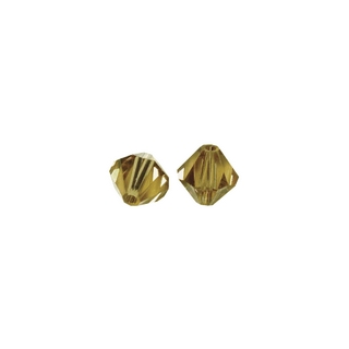 Perles cristal Swarovski toupie 4 mm ø.  caramel