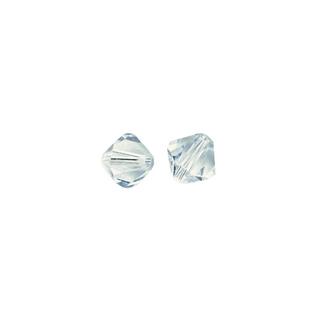Perles cristal Swarovski toupie 4 mm ø.  bleu glace