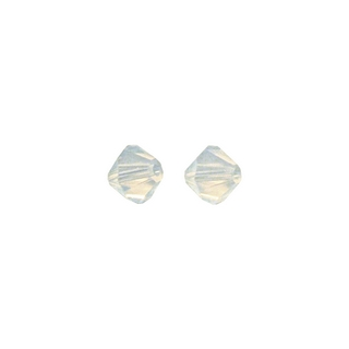 Perles cristal Swarovski toupie 4 mm ø.  blanc opal
