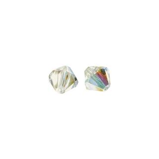 Perles cristal Swarovski toupie 6 mm ø.  aurore boreale
