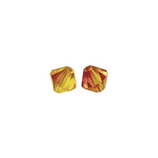 Perles cristal Swarovski toupie 6 mm ø.  rouge feu