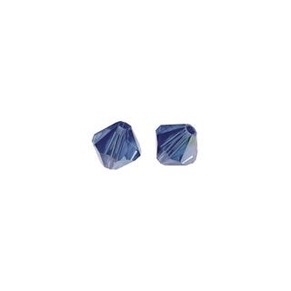 Perles cristal Swarovski toupie 8 mm ø.  bleu royal