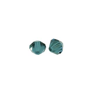 Perles cristal Swarovski toupie 8 mm ø.  turquoise d`Inde