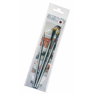 Set de pinceaux sachet 1 set 2 mm. 4 mm. 8 mm
