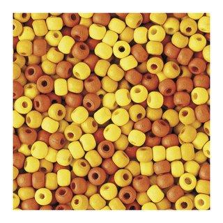 Perles en bois, mates, 4 mm Teintes jaunes