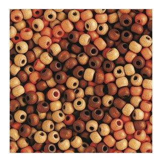 Perles en bois, mates, 8 mm Teintes brunes