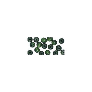 Perles en bois, polies, 10 mm ø, rondes vert