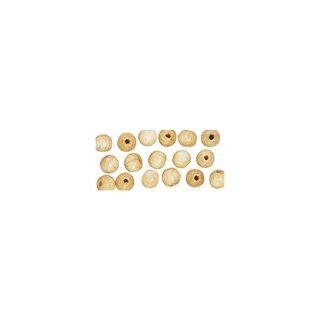 Perles en bois, polies, 12 mm ø, rondes nature