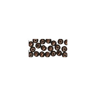 Perles en bois, polies, 4 mm ø, rondes brun fonce