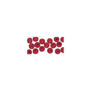 Perles en bois, polies, 4 mm ø, rondes rouge