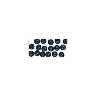 Perles en bois, polies, 6 mm ø, rondes noir