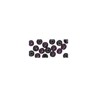 Perles en bois, polies, 6 mm ø, rondes lilas fonce