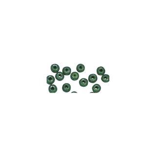 Perles en bois, polies, 6 mm ø, rondes vert mai