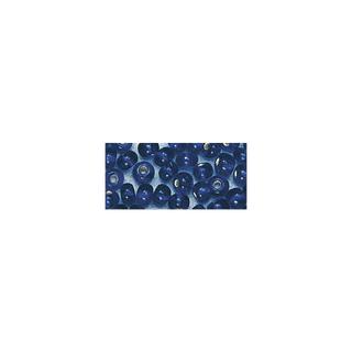 Rocailles. 2 mm ø. avec garniture argent bleu fonce