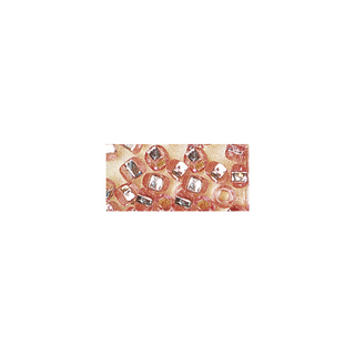 Rocailles. 2 mm ø. avec garniture argent rose. pas lavable
