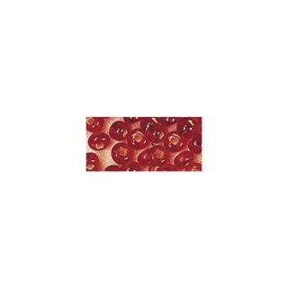 Rocailles. 2 mm ø. avec garniture argent rouge