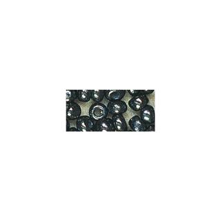 Rocailles. 2 mm ø. avec garniture argent hematite rouge