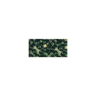 Rocailles. 2 mm ø. avec garniture argent vert