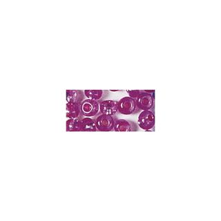 Rocailles. 2 mm ø. avec garniture argent rose fonce. pas lavable