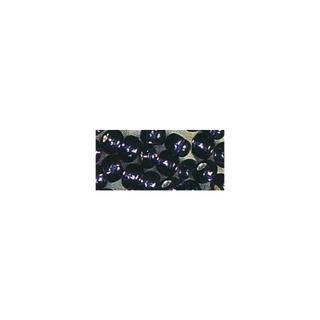 Rocailles. 2 mm ø. avec garniture argent lilas fonce