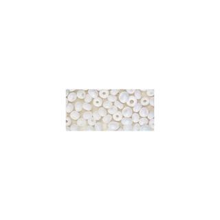 Rocailles. 2 mm ø. opaques blanc