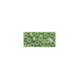 Rocailles. 2 mm ø. opaques lustre vert clair