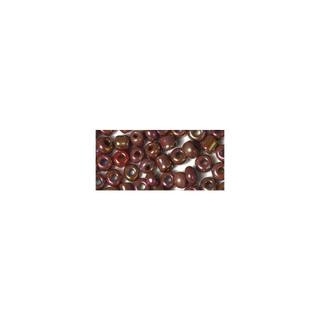 Rocailles. 2 mm ø. opaques lustre rouge vin