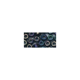Rocailles. 2.6 mm ø. opaques lustre noir