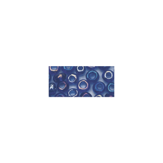 Rocailles. 2.6mm ø. transparentes lustre bleu fonce