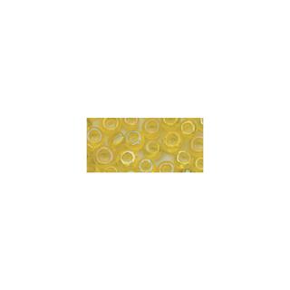 Rocailles. 2.6mm ø. transparentes lustre jaune