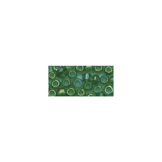 Rocailles. 2.6mm ø. transparentes lustre vert