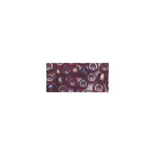 Rocailles. 2.6mm ø. transparentes lustre lilas