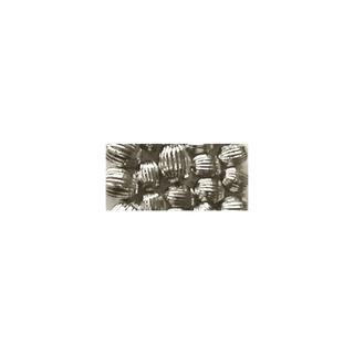 Perle a rainures, Olive, 10x13 mm argent