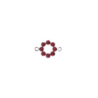Accessoires bijoux Swarovski Couronne,2 oeuillets,15 mm rouge classique