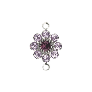 Accessoires bijoux Swarovski Fleur, 2 oeuillets, 15 mm violet